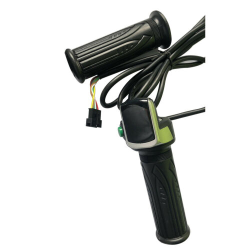Electric Scooter E-Bike Bicycles Throttle Grip Handlebar Grips LED Display Black