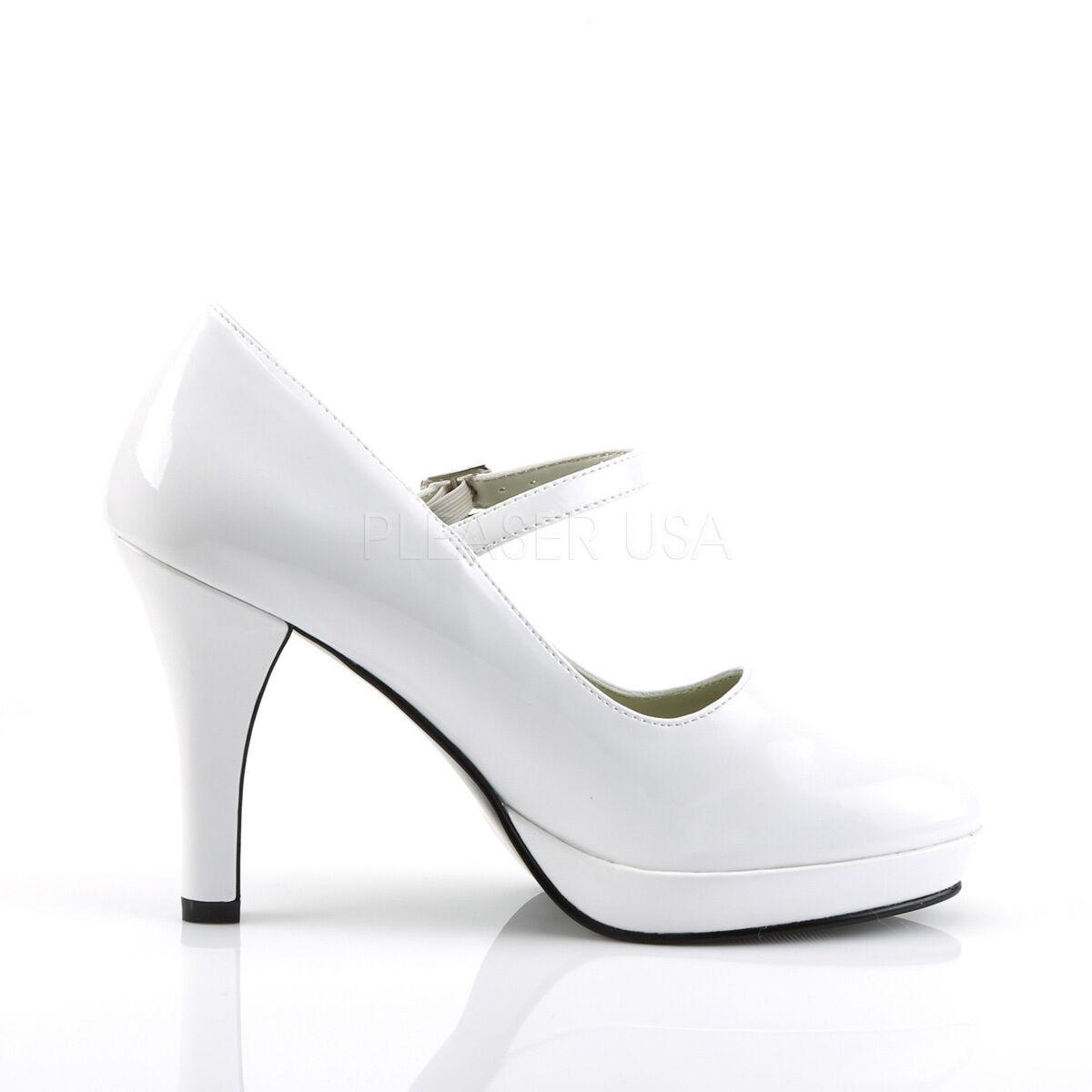 Sale Miniplateau Funtasma Damen Miniplateau Sale High Heels Pumps Contessa-50 weiß Lack Größe 41 b14c53