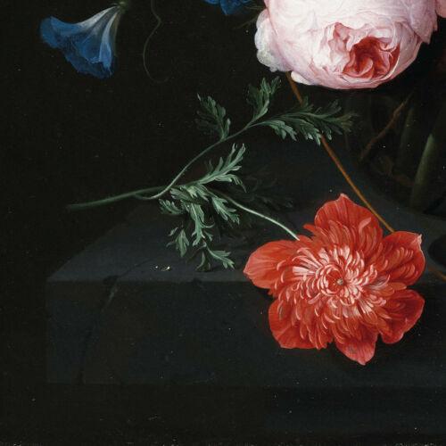Stillleben mit Blumen in einer Glasvase Fototapete Heem