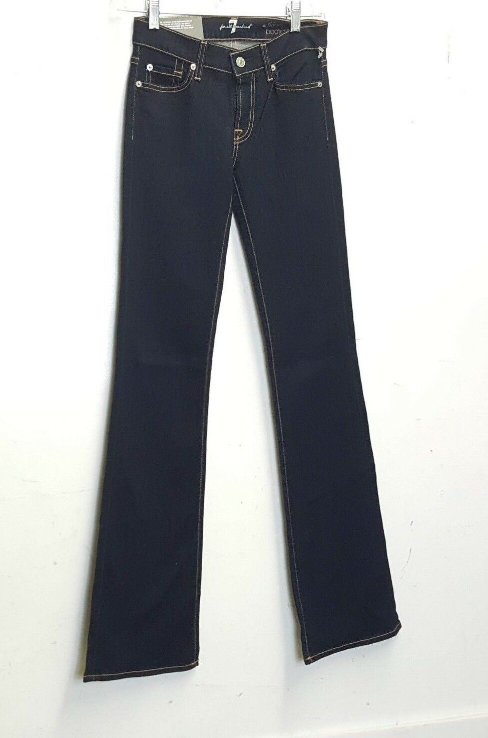 7 For All Mankind The Skinny Bootcut Women's Jeans sz 24 Dark wash NWT