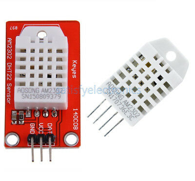 UMLIFE 5PCS DHT22 Digital Temperature and Humidity Sensor Module AM2302 Main Chip Temperature Humidity Monitor Sensor for Arduino Electronic Practice DIY Replace SHT11 SHT15 DHT22, 5PCS