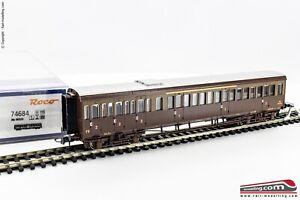 ROCO-74684-H0-1-87-Carrozza-passeggeri-FS-Centoporte-ABz-66528-di-1-e-2-Cl