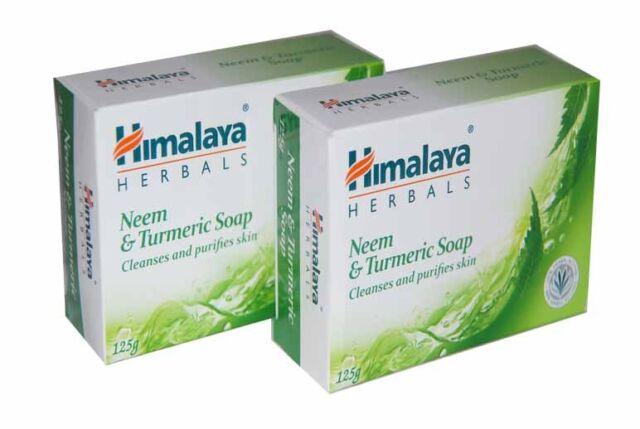 2 X Himalaya neem & turmeric soap 125gm ,