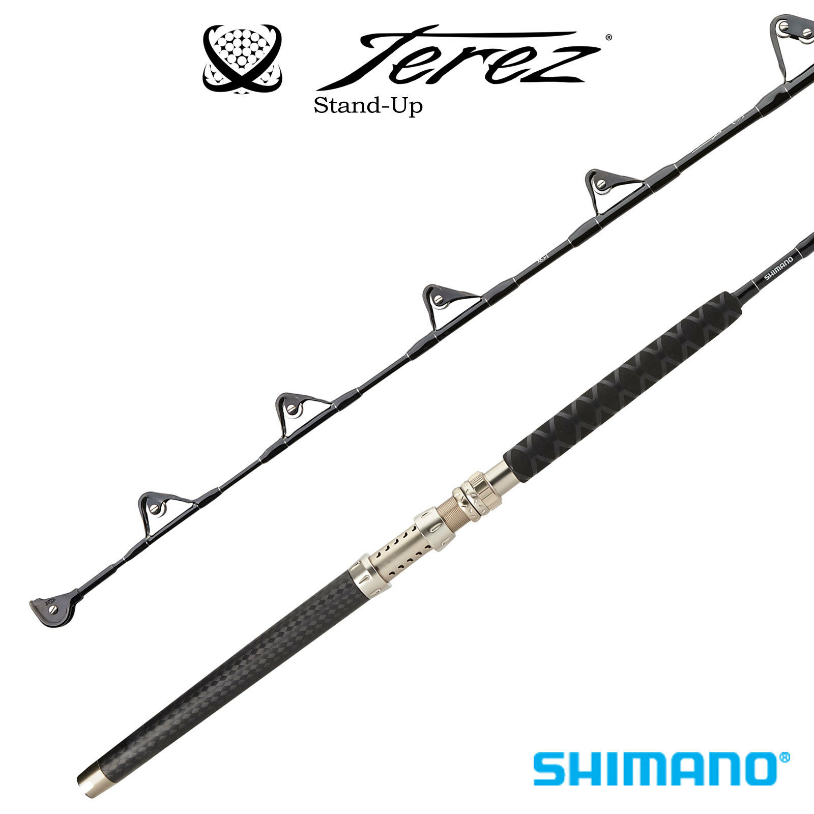 Shimano Terez Stand-Up Straight Butt Trolling Rod TZCSTH2SSBLK 5'6  Heavy 2pc