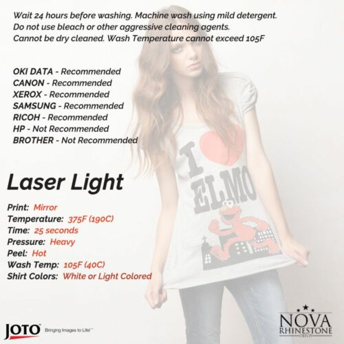 Láser /& InkJet Hierro en papel de transferencia de calor para Light /& Dark Tela Envío Gratis