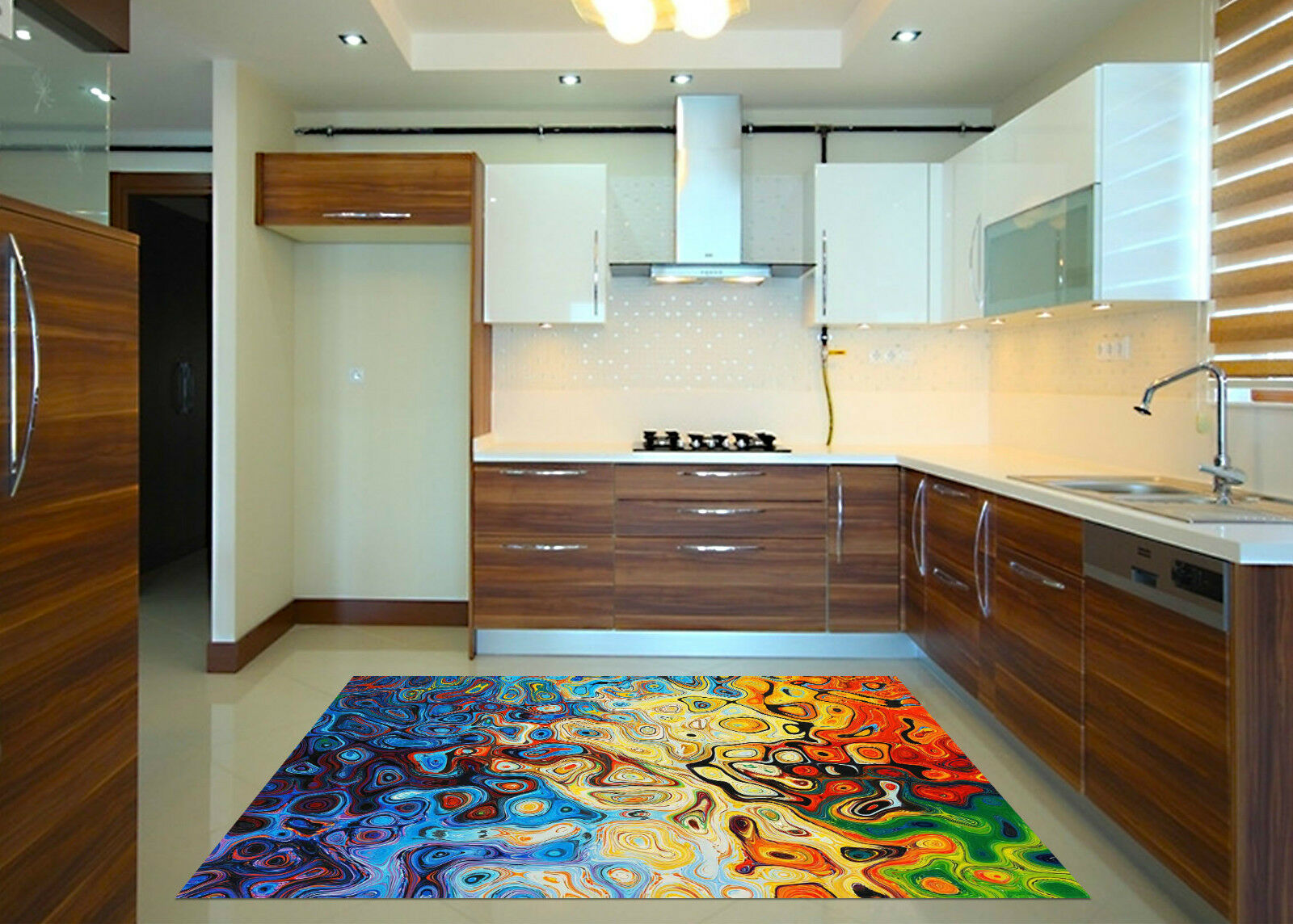 3D Curved Pattern Kitchen Mat Floor Murals Wall Print Wall Deco AJ WALLPAPER CA