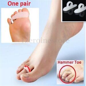 2x-Silicone-Gel-Bunion-Hammer-Toe-Straightener-Separators-Corrector-Pain