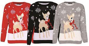 Femme-noel-nouveaute-baby-deer-bambi-imprime-femmes-pull-pull-top