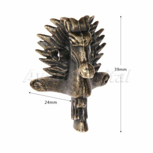 4Pcs 39*24mm Horse Head Jewelry Box Feet Leg Antique Wood Case Corner Protector