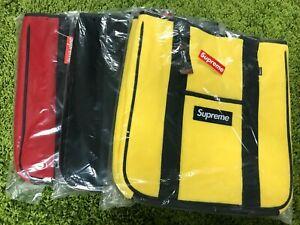 Details about Supreme F/W 2018 Polartec Tote Bag Box Logo Red Black Yellow