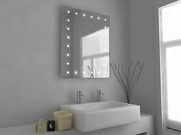 Led illuminé salle de bain miroir avec avec avec capteur, rasoir et désembuage-syna-c39s | Pas Cher  0f97f6