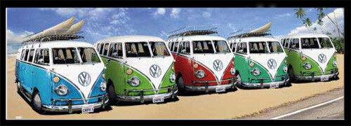 Bus Californian Camper Plakat Tür-Poster VW