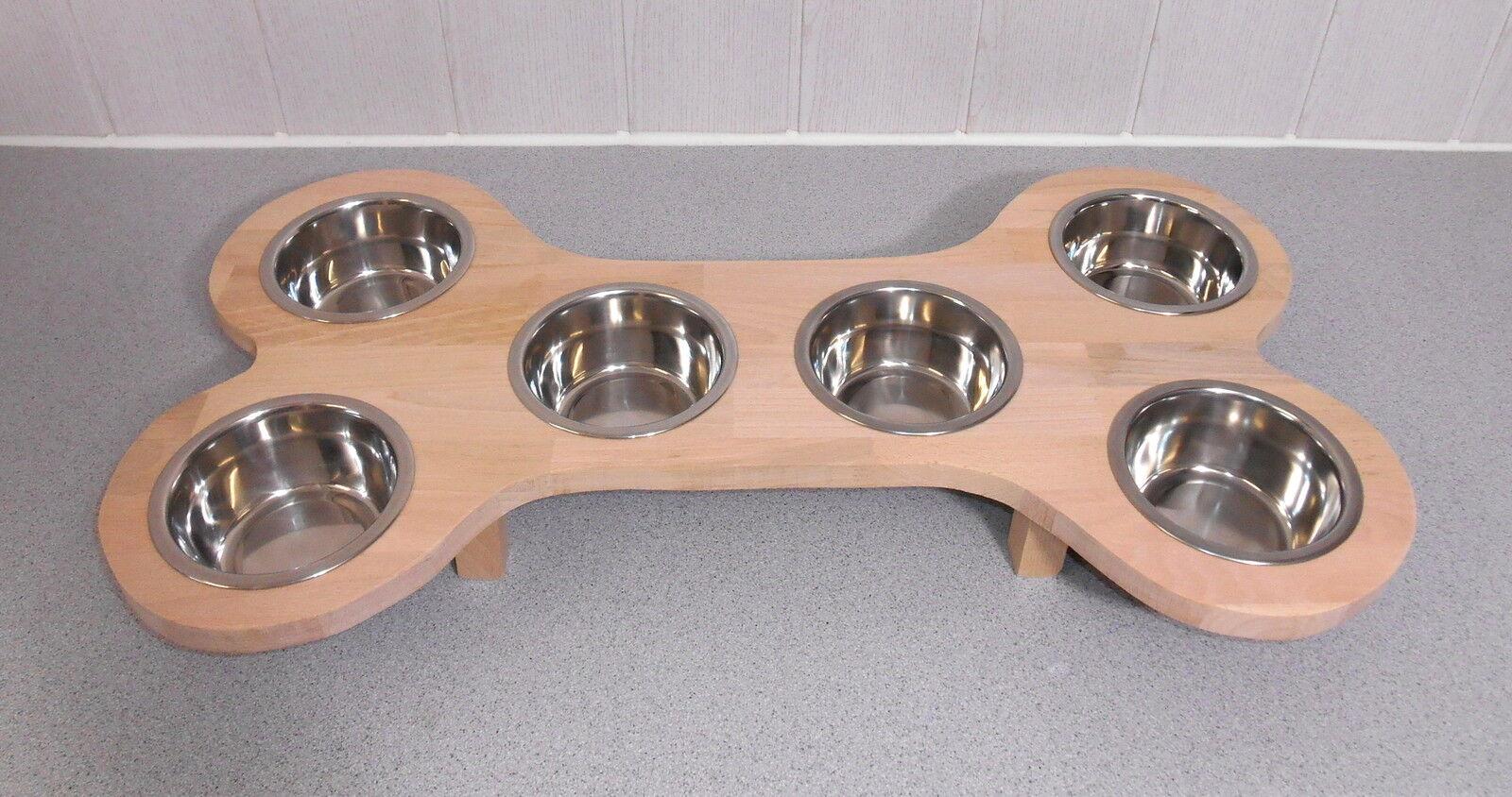 Lavoro manuale per il vostro cane! welpenbar in forma OSSO con 6 näpfen!  FAGGIO  155b