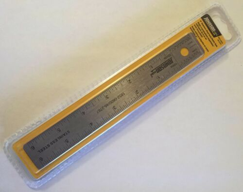"6/"" SS RULER 6/"" STAINLESS STEEL PROTRACTOR JOHNSON LOT 4/"" BRASS POCKET CALIPER"