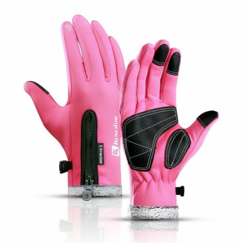Thermal Motorbike Motorcycle Leather Bike All Weather Gloves Carbon Knuckle