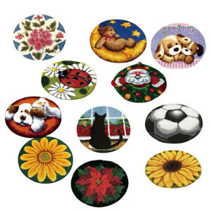 Latch Hook Rug Making Kits for Kids/Adults Hand Embroidery Cushion Needlecrafts