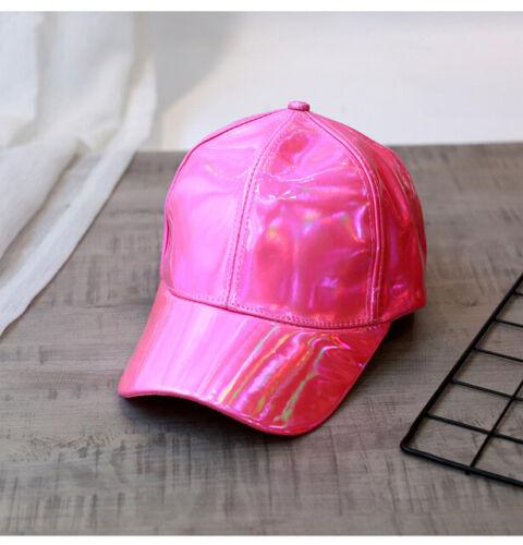 Mens Strapback Rainbow Color Reflective Hologram Adjustable Unisex Baseball Caps
