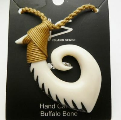 Jewelry Collectibles Hawaii Jewelry Tribal Fish Hook Buffalo Bone Carved Necklace Cultures Ethnicities Hawaiian Choker 35312 Zsco Iq