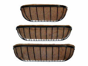Trough Planter / Manger Planter - Prelined with coco liner.