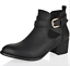 NEW WOMENS LADIES BLOCK HIGH MID LOW HEEL ZIP ANKLE BOOTS BLACK SHOES SIZE