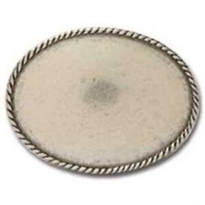 Buckle Blank Oval Rope Edge 98834235231