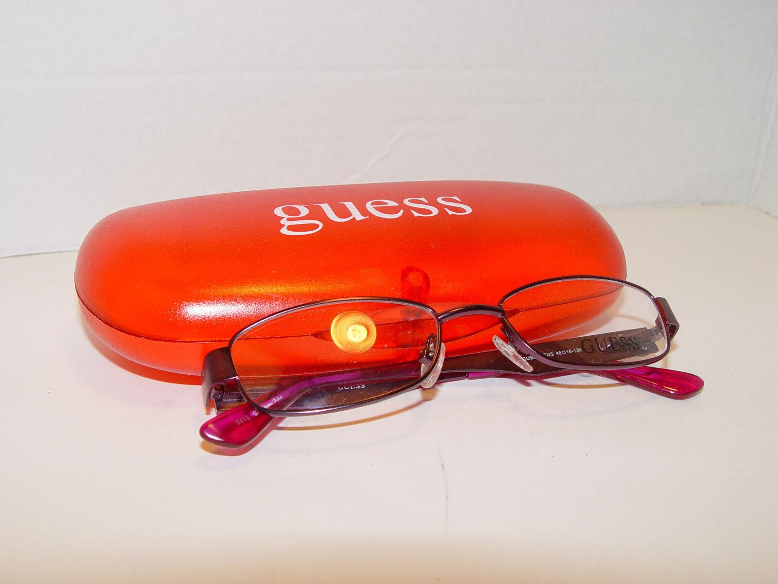 NEW Guess GU9093 FUS Purple Fuchsia 48mm 16mm 130mm Eyeglasses Frames
