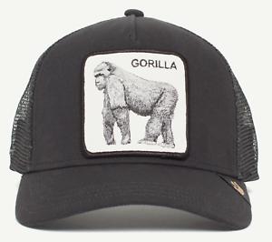 Goorin Bros Animal Farm Trucker Baseball Hat Cap Black Gray Gorilla ... f60124268aa2