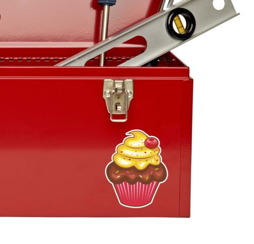 2 x 10cm Cupcake Vinyl Decal Sticker Car Shop Cup Cake Bakery Pink Food #9268