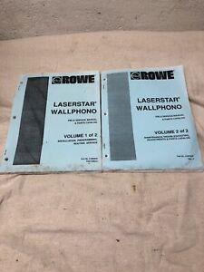 Details about Rowe Laserstar Wallphono Jukebox Manuals Volumes 1 and 2