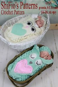 CROCHET-PATTERN-for-CROC-ST-OWL-COCOON-amp-HAT-3-SIZES-341-NOT-CLOTHES