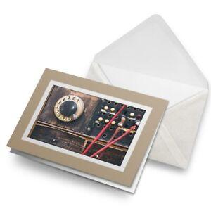 Greetings-Card-Biege-Vintage-Switchboard-Phone-Retro-Wartime-24387