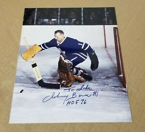 JOHNNY BOWER TORONTO MAPLE 🍁 LEAFS Autographed 8X10 Photo