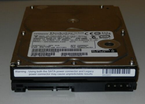 "1 of 1 - HITACHI DESKSTAR HDS725050KLA360 500GB SATA 3.5"" Hard Drive"