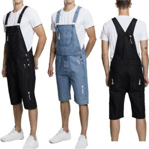 Men-039-s-Denim-Bib-Pants-Overalls-Jumpsuits-Suspender-Trousers-Jeans-Shorts-M-3XL