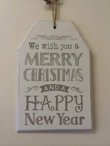 Wish-You-a-Merry-Christmas-amp-A-Happy-New-Year-Large-Decoration-Hanging-Plaque