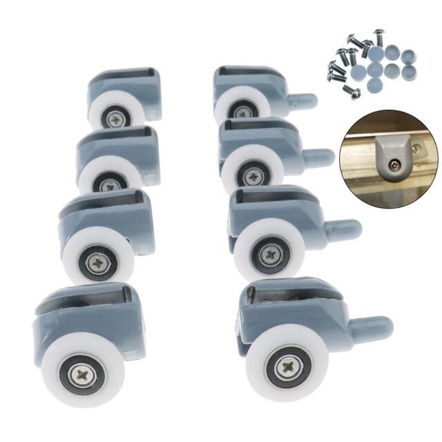 4 pair single shower door table rollers wheels pulleys runners 25mm