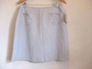 NWT-Jump-Size-14-Light-blue-linen-blend-all-occasion-mini-skirt