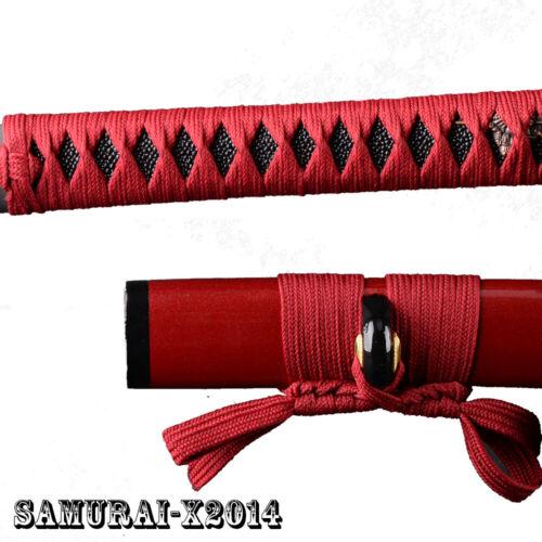 Synthetic Silk Ito Sageo Dark Red Wraping Cord for Japanese Samurai Sword Katana