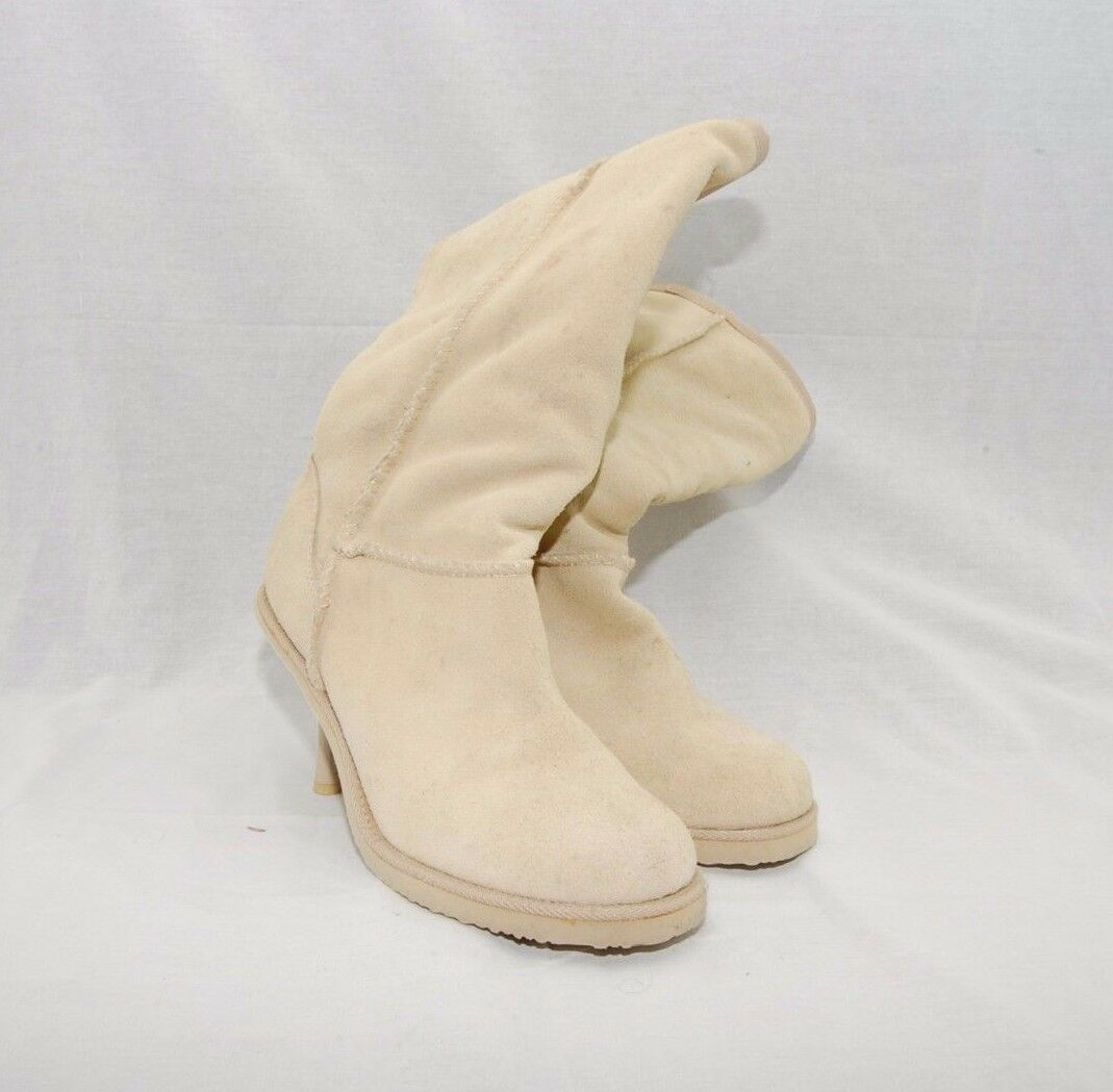 TOMMY HILFIGER TOMMY GIRL TAN SUEDE WINTER BOOTS SIZE 7 1/2