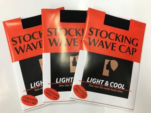 STOCKING WAVE CAP WIG CAP TOTAL 6 CAPS - 3 PACK DEAL