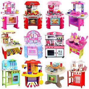Childrens Kids Toy Pretend Role Play Kitchen Cooker Game Accessories