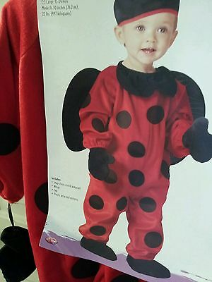 Little ladybug Toddler Costume large 12- 24 month 30 in high 22 lbs Halloween