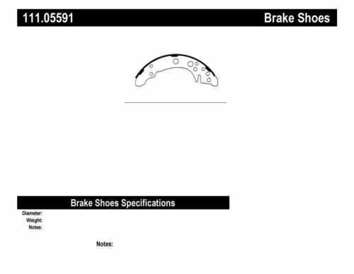 Drum Brake Shoe-Premium Brake Shoes-Preferred Rear Centric 111.05591