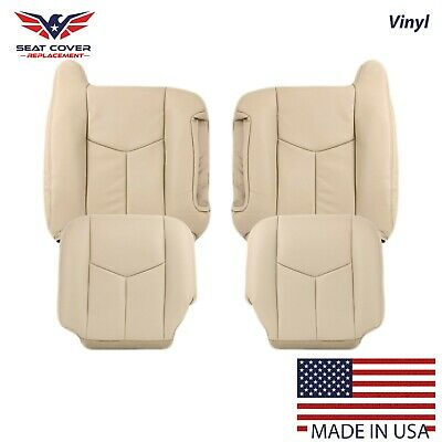 Driver Side Bottom Replacement Leather Seat Cover TAN 1999 GMC Yukon SLT SLE