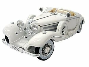 Maisto-1-18-Mercedes-Benz-500-K-Type-Specialroadst-White-Diecast-Model-Car-Toy