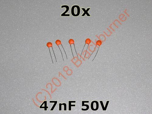 473p 5 10 20 Pièce 47 nF 50 V DIP céramique condensateur capacitor Kerko