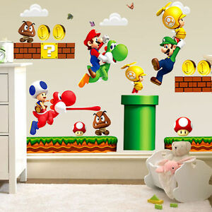 Removable-Super-Mario-Bros-Child-Baby-Bedroom-Kitchen-Home-Decor-Wall-Sticker