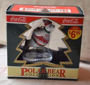 NIB-1995-COCA-COLA-POLAR-BEAR-Collection-SKATING-POLAR-BEAR-Christmas-Ornament