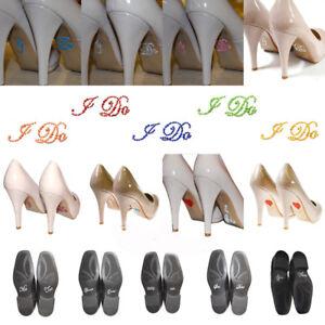 Diamante Rhinestone I DO ME TOO Set Shoe Groom Bride Stickers ... 7a49cf13fd3e