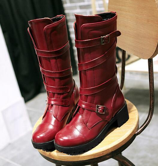 Stiefel Braun ROT schwarz heel cm 5 cm heel like Leder comfortable 9385 top d75631